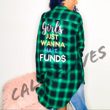 Load image into Gallery viewer, Stasia Fund$: Girls Wanna Oversized Plaid Shirt - callielives