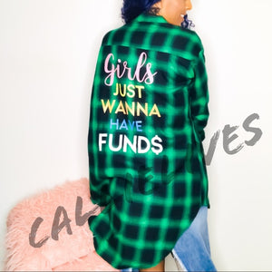 Stasia Fund$: Girls Wanna Oversized Plaid Shirt, [product_type], CallieLives