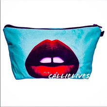 Load image into Gallery viewer, Xena KISS My Bag: Minty Red Lip 3D Makeup Pouch - callielives