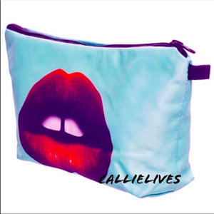 Xena KISS My Bag: Minty Red Lip 3D Makeup Pouch - callielives