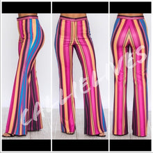 Load image into Gallery viewer, Stasia Circus Tent: PolyScuba Flared Stripe Pant - callielives