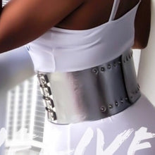 Load image into Gallery viewer, Xena Chrome Empire: Strappy High Waist Cinch Belt, Accessories, CallieLives