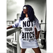 Load image into Gallery viewer, Miz NOT Your B: Wake Up Speak Up T-Shirt Dress, Dresses, CallieLives