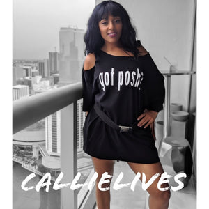 Miz Got Posh Swag Custom Cut T-Shirt Dress