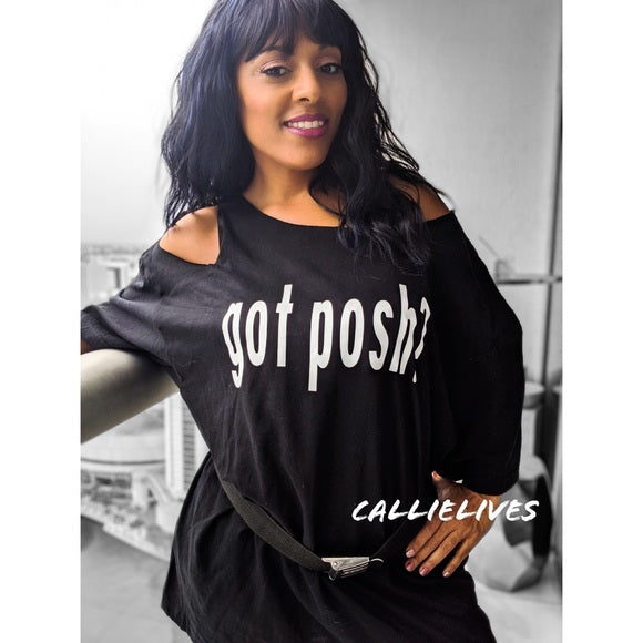 Miz Got Posh Swag Custom Cut T-Shirt Dress, Dresses, CallieLives