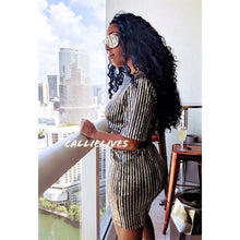 Load image into Gallery viewer, Callie Rockstar Formal Dress: Pinstripe Sequins, Dresses, CallieLives