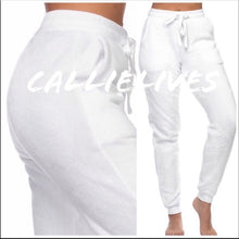 Load image into Gallery viewer, Callie Plush: Supa Soft White Velvet Joggers, Leggings & Joggers, CallieLives