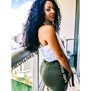 Miz Curves: Good Vibes Army Green Joggers 2X 3X