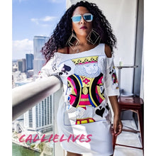 Load image into Gallery viewer, Miz Jack of Kings: Custom Cut T-Shirt Dress