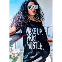 Load image into Gallery viewer, MIZ WAKE PRAY HUSTLE: Custom Cut T-Shirt Dress XL