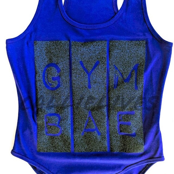 Callie Gym Bae: Deep Blue Glitter Leotard, Active Wear, CallieLives