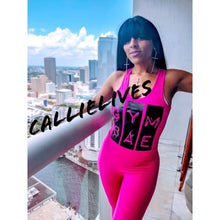 Load image into Gallery viewer, Callie Gym Bae: Workout Pink Leotard Legging Set