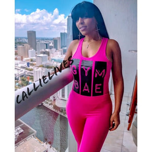 Callie Gym Bae: Workout Pink Leotard Legging Set