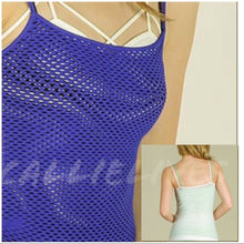 Load image into Gallery viewer, Stasia Camisole Net Sleeveless Layering Tank