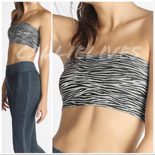Load image into Gallery viewer, Callie Bandeau Zebra Animal Print Layering Top OS