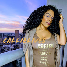 Load image into Gallery viewer, Callie Teacher Tee: Coffee Scream Drink Tank Top, Tops, CallieLives