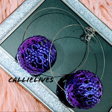 Load image into Gallery viewer, Callie Holiday: Decorative Globe Earrings