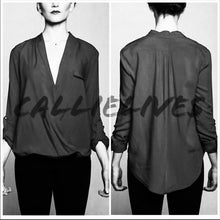 Load image into Gallery viewer, Elaine Wrap it Up:  Plunge Work Blouse