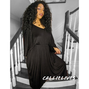 Callie Maxi: Lounge Black Hi Low Hem Mumu Dress, Dresses, CallieLives