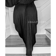 Load image into Gallery viewer, Callie Maxi: Lounge Black Hi Low Hem Mumu Dress, Dresses, CallieLives