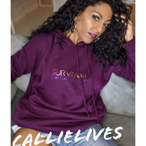 Callie SURVIVOR: Floral Foil Oversized Identaholic Hoodie Dress
