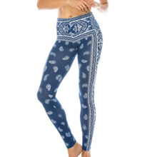 Load image into Gallery viewer, Stasia Blue: Paisley Bandana 3D Printed Leggings, Leggings & Joggers, CallieLives