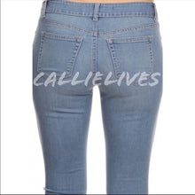 Load image into Gallery viewer, Callie Denim Faded light wash Stretch Skinny Jeans