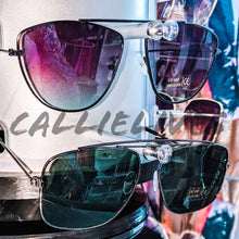 Load image into Gallery viewer, Miz Black Sunnies: Green Tint Sunglasses Shades