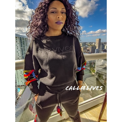 Callie Survivor: Red Camo Velour Black Identaholic Sweatsuit