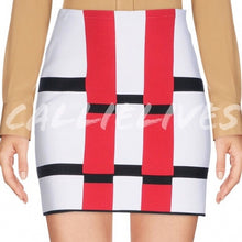 Load image into Gallery viewer, Callie ALAÏA ColorBlock Grid Rectangle Mini Skirt, Shorts and Skirts, CallieLives