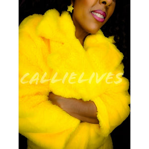 Miz Bumble FLY: Faux Fur Lightweight Midi Jacket
