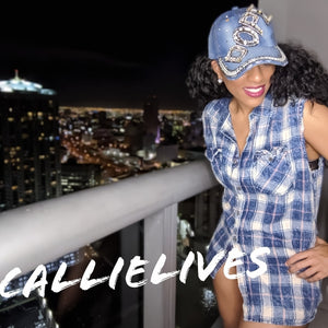Callie DOPE: Denim Sparkly Rhinestone Bling Hat, Hats, High Heels & Hand Bags, CallieLives