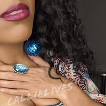 Load image into Gallery viewer, Callie Gemstone: Artsy Vintage Style Bling Ring