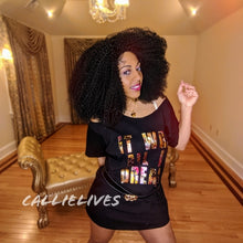 Load image into Gallery viewer, Miz Biggie: Dream Floral Custom Cut T-Shirt Dress