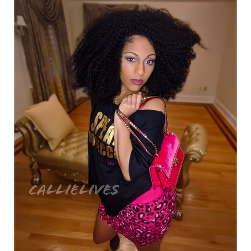 Stasia Exotic: Hot Pink Panther Cheetah Mini Skirt