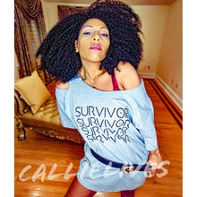 Load image into Gallery viewer, Callie Survivor: Hella Sexy Gray Identaholic T-Shirt Dress M/L, Dresses, CallieLives