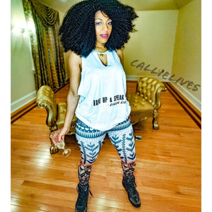 Stasia Wake up: Speak Up Custom Cut Muscle Tank