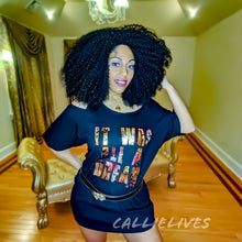 Load image into Gallery viewer, Miz Biggie: Dream Floral Custom Cut T-Shirt Dress, Tops, CallieLives