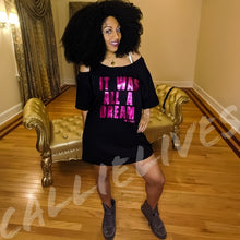Load image into Gallery viewer, Miz Biggie: Magenta Dream Custom Cut T-Shirt Dress, Tops, CallieLives