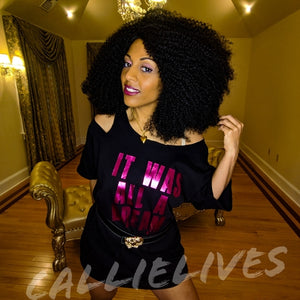 Miz Biggie: Magenta Dream Custom Cut T-Shirt Dress, Tops, CallieLives