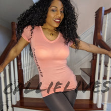 Load image into Gallery viewer, Identaholic: Blush Pink Foil Vneck T-shirt Top