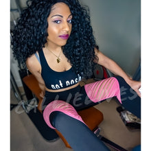 Load image into Gallery viewer, Callie Pink: Black Color Block Slashed Leggings, Leggings & Joggers, CallieLives