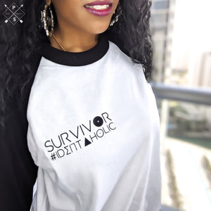 Miz Survivor: Black Raglan Baseball 3/4 T-Shirt