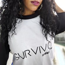 Load image into Gallery viewer, Miz Survivor: Raglan Baseball 3/4 Identaholic Tee