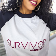 Load image into Gallery viewer, Miz Pink Survivor: Baseball 3/4 Identaholic Tee, Tops, CallieLives