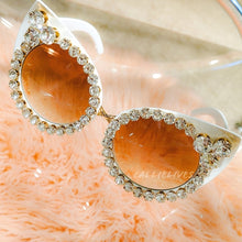 Load image into Gallery viewer, Miz SuperCat: Gold Set Crystal Bling White Shades