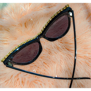 Miz SuperCat: Rhinestone Bling Black Sunglasses, Accessories, CallieLives