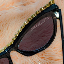 Load image into Gallery viewer, Miz SuperCat: Rhinestone Bling Black Sunglasses, Accessories, CallieLives