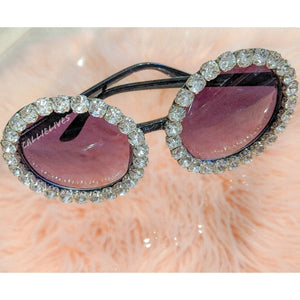 Miz Sista Circle: Rhinestone Bling Black Sunnies, Accessories, CallieLives