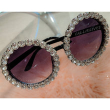 Load image into Gallery viewer, Miz Sista Circle: Rhinestone Bling Black Sunnies, Accessories, CallieLives